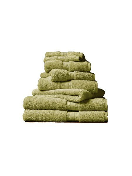 Christy Ren 04 green fern hand towel