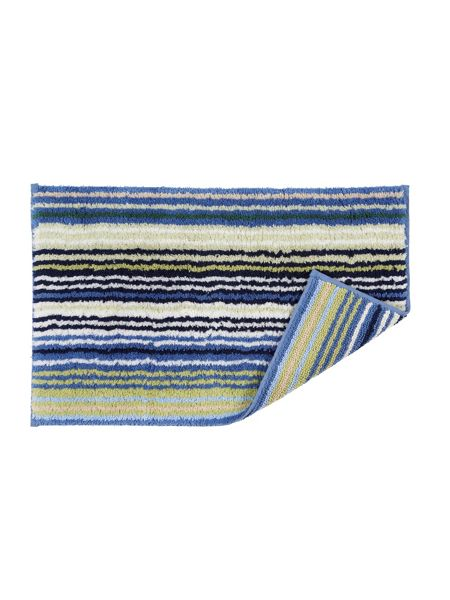Christy Supreme stripe bath mat blue