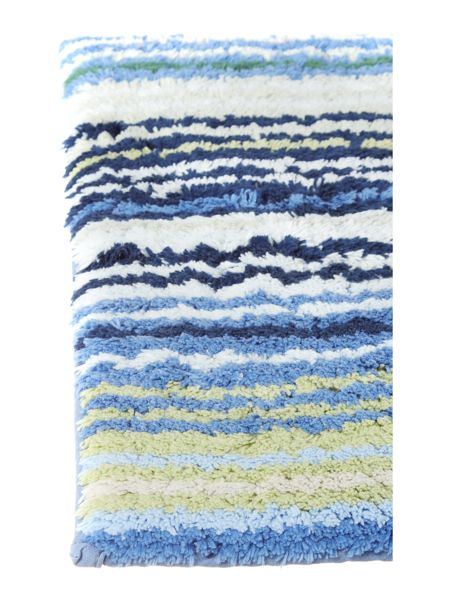 Christy Supreme stripe pedestal mat blue