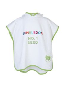 Christy Wimbledon kids poncho trophy white