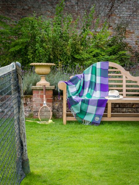 Christy Wimbledon blanket throw green