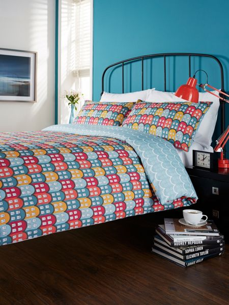 Humming Bird by Christy Retro Houses duvet cover set