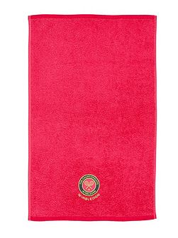 Wimbledon hand / guest towels hot pink