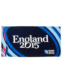 Rugby World Cup england 2015 beach towel midnight
