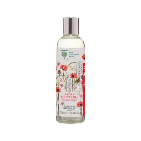 Bronnley RHS Poppy Meadow Bath & Show Gel