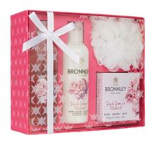 Bronnley Pink Peony & Rhubarb Body Care Gift