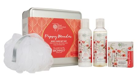 Bronnley RHS Poppy Meadow Body Care Gift