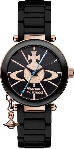 Vivienne Westwood VV067RSBK Ladies Ceramic Watch