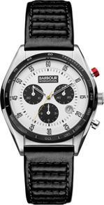 Barbour BB025WHBK mens strap watch