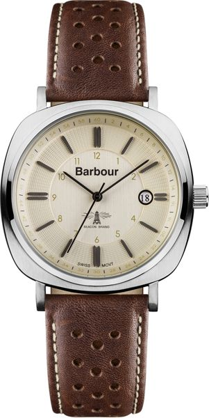 Barbour BB018SLBR mens strap watch