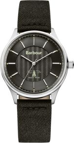 Barbour BB021SLBK mens strap watch