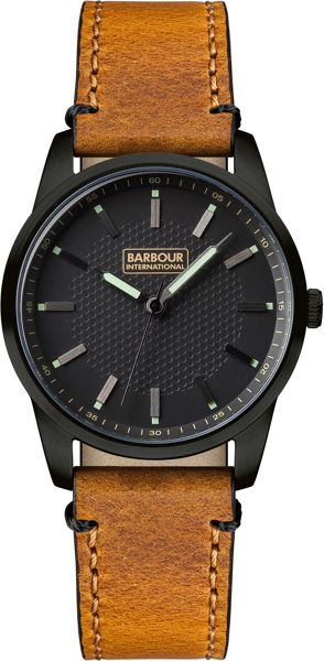 Barbour BB026BKTN mens strap watch