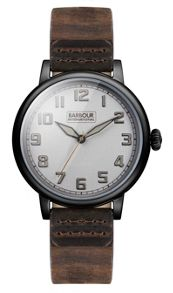Barbour Bb042slbr gents strap watch