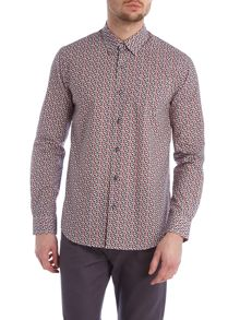 Peter Werth Rafael geometric shirt