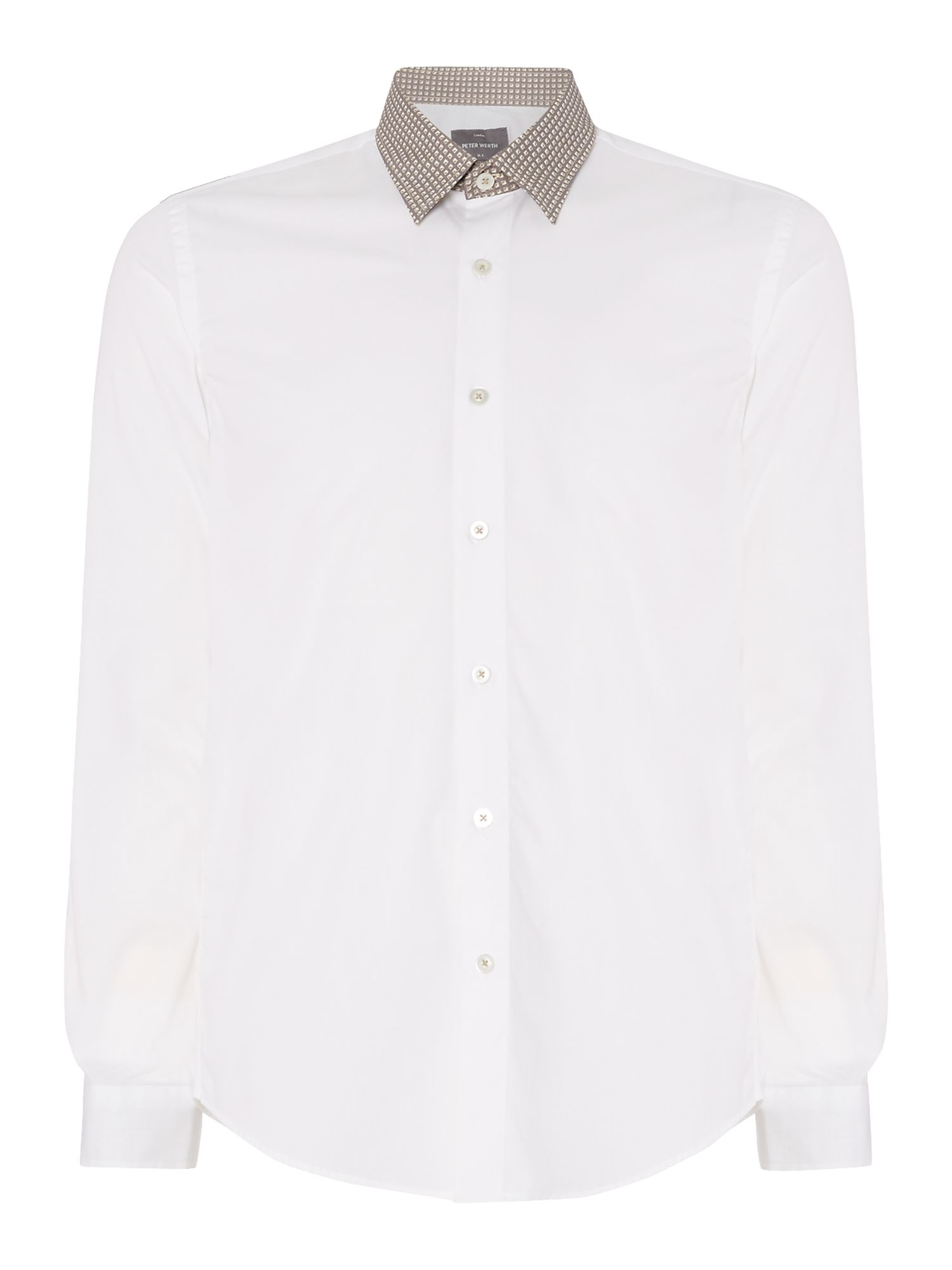 Chuck concealed button down collar shirt