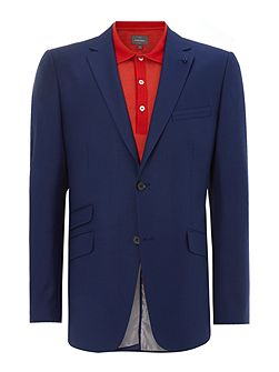 Two button notch lapel suit jacket