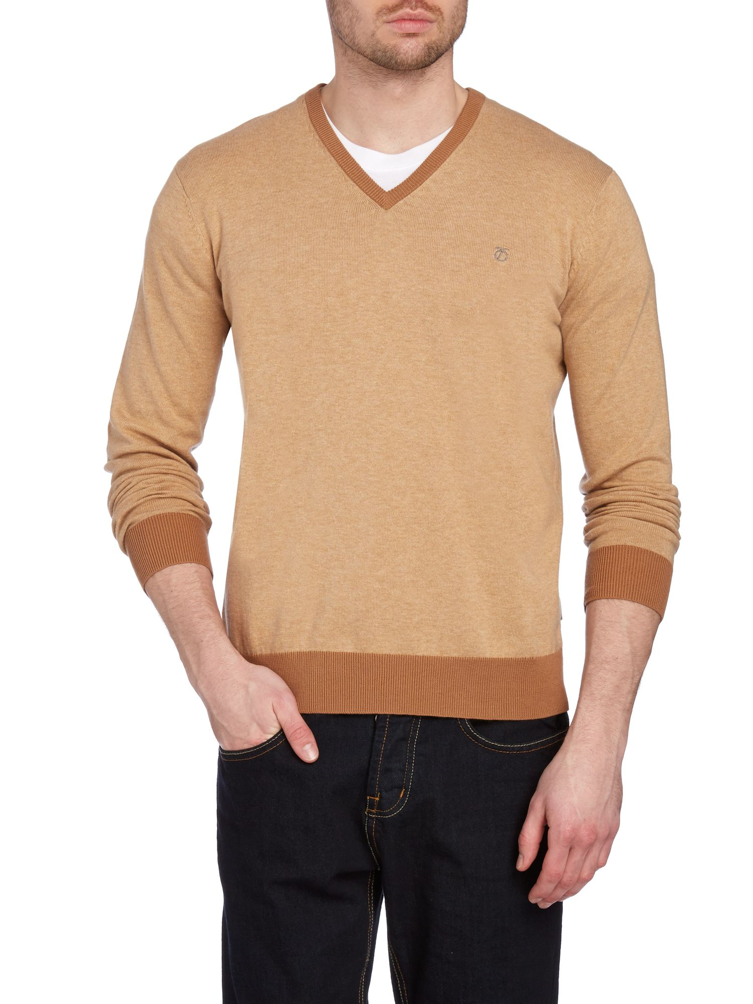 Sutton cut v-neck jumper