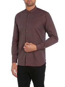 Peter Werth Florey micro collar check shirt