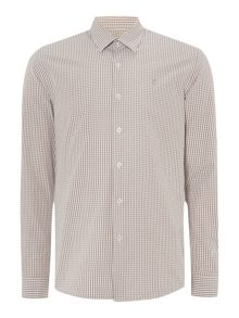 Peter Werth Ellington cut gingham shirt