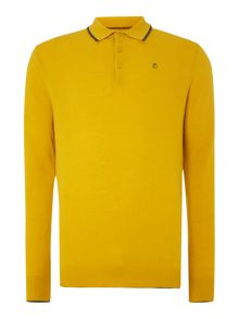 Peter Werth Dessau long sleeved lambswool knitted polo shirt