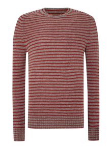 Sullivan striped crew neck jumper