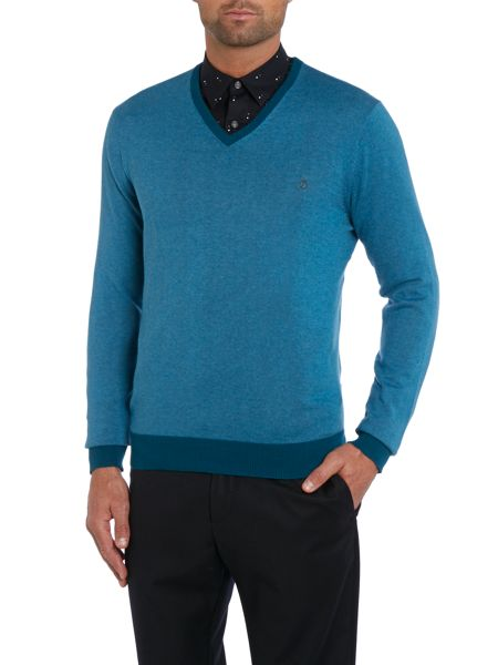 Peter Werth Sutton cut v-neck jumper