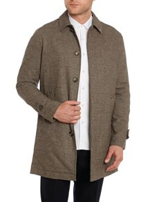 Peter Werth Twyford check cotton raincoat