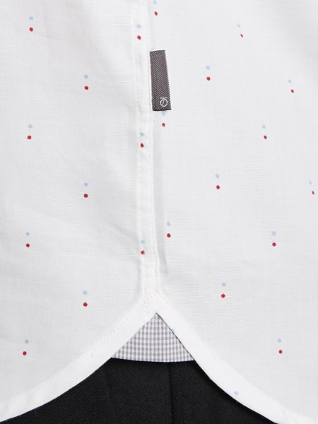 Peter Werth Hanovia double dot printed oxford shirt