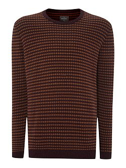 Leopold bubble knit crew neck jumper