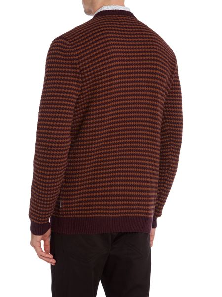 Peter Werth Leopold bubble knit crew neck jumper
