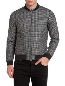 Rodgers gingham bomber jacket