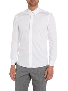 Antonio fly front poplin shirt