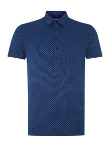 Peter Werth Taylor Short Sleeved Printed Polo Shirt