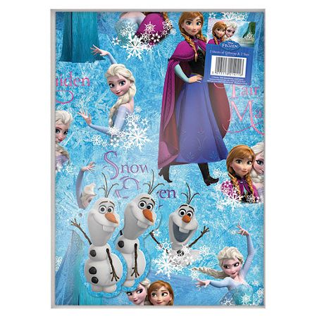 Disney Frozen 2 sheets gift wrapping paper and 2 tags
