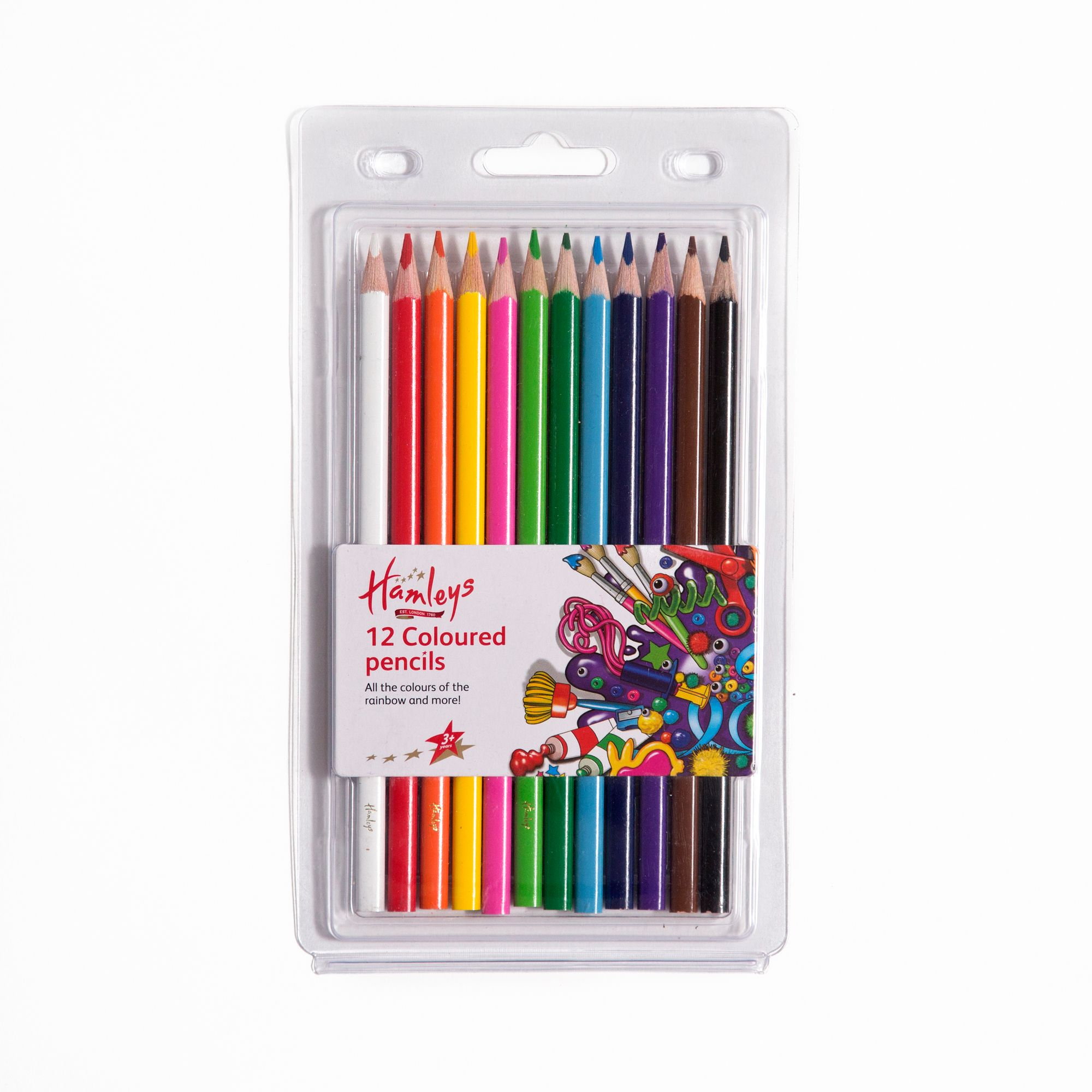 Hamleys 12 Coloured Pencils