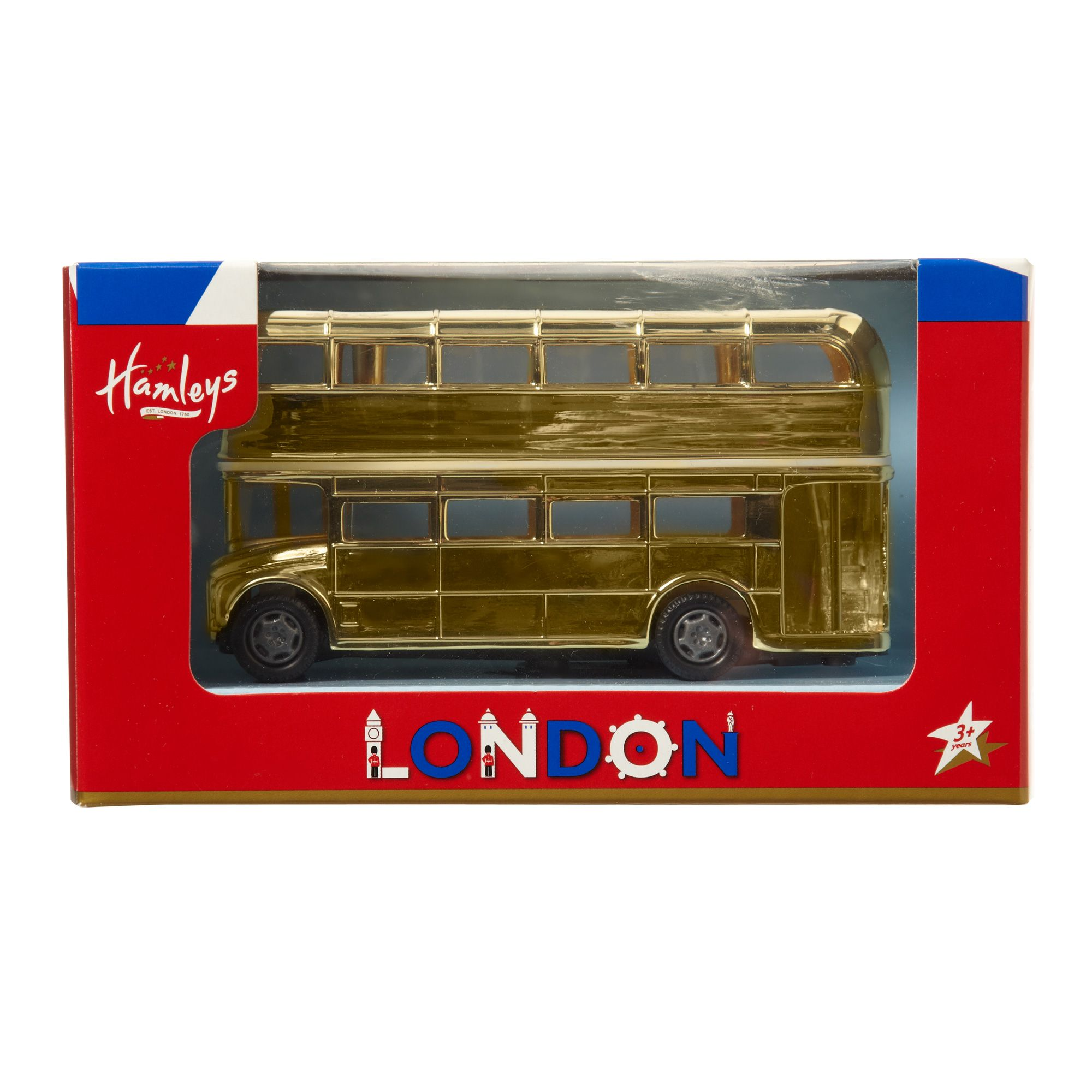 Hamleys limited edition gold bus