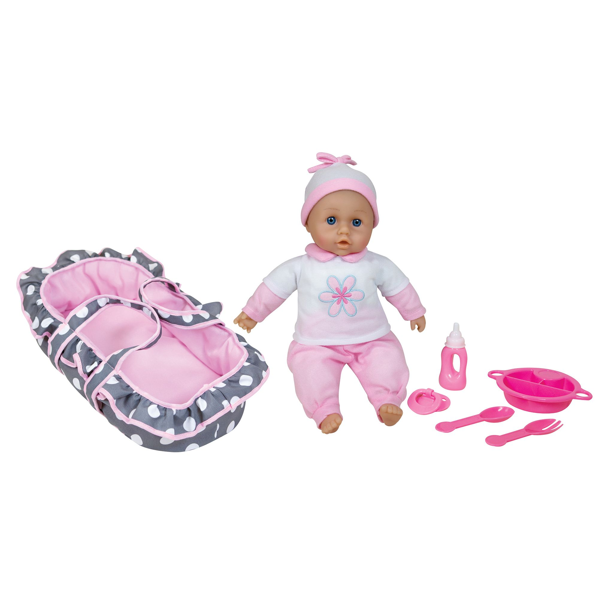 Image of Baby Ellie & Friends Baby & Carry Cot Set