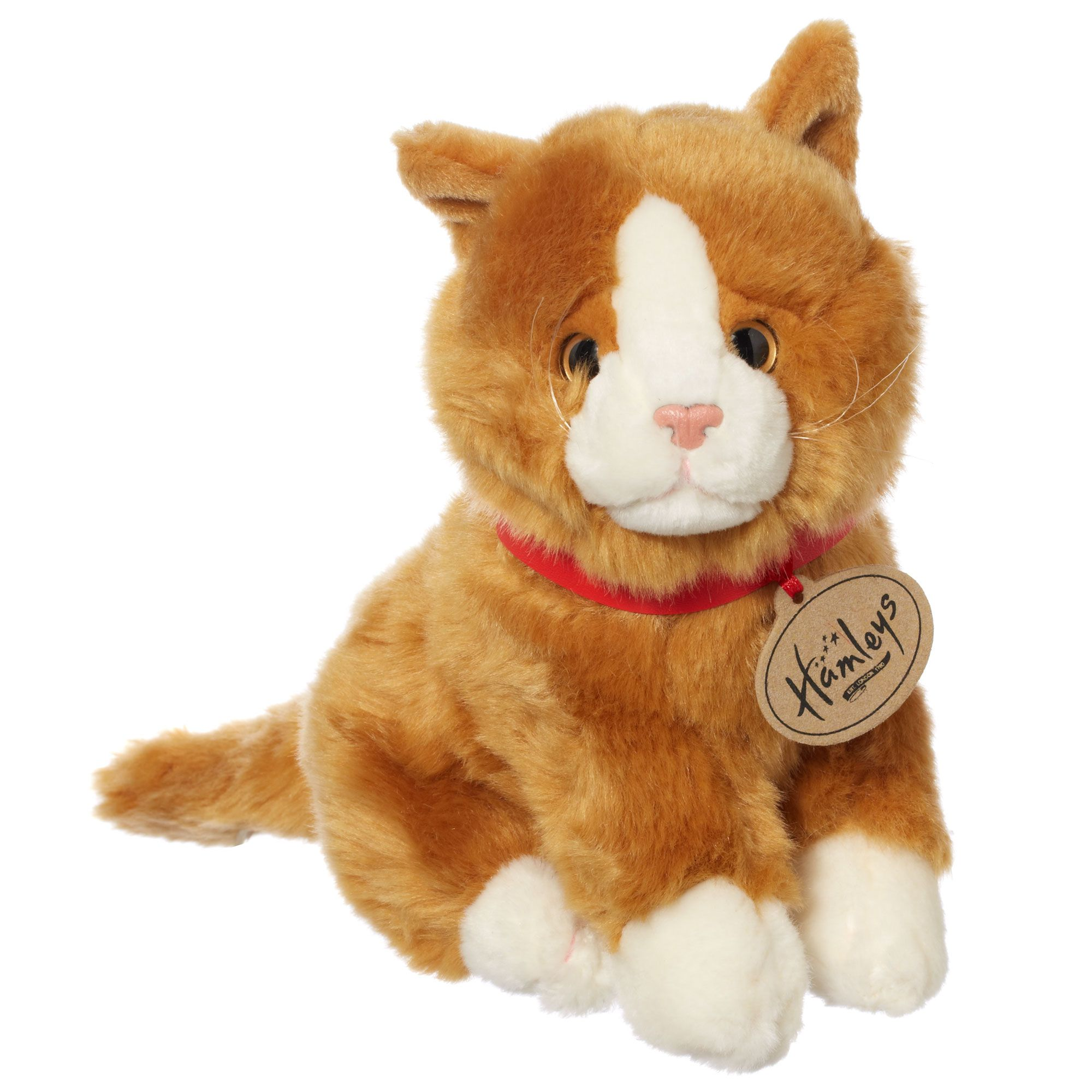 Hamleys Sitting Gold Cat Soft Toy