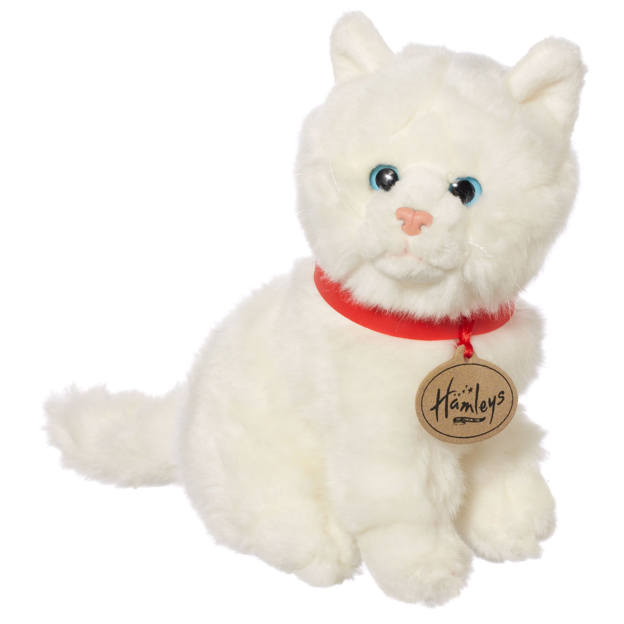 Hamleys Sitting White Cat Soft Toy
