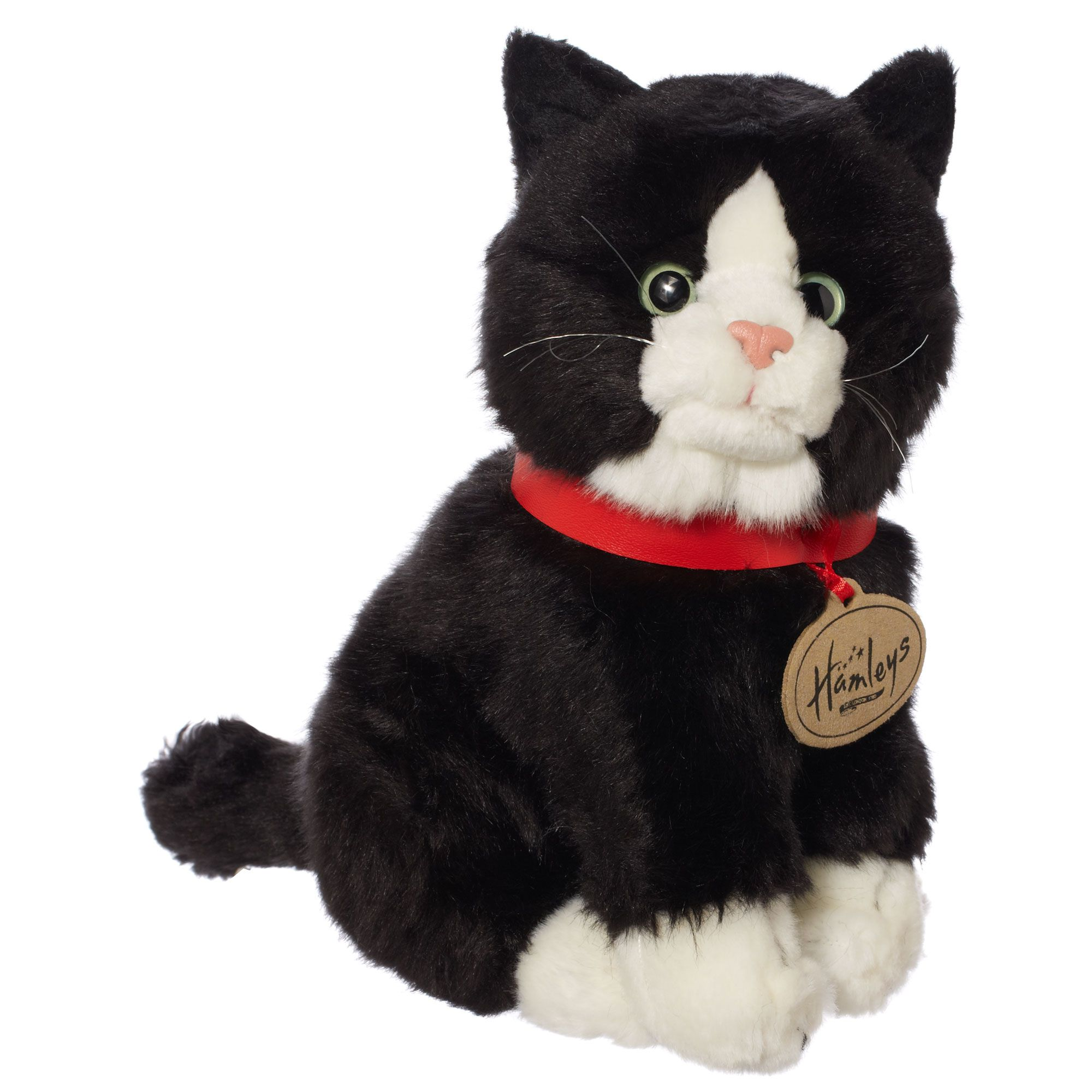 Hamleys Sitting Black Cat Soft Toy