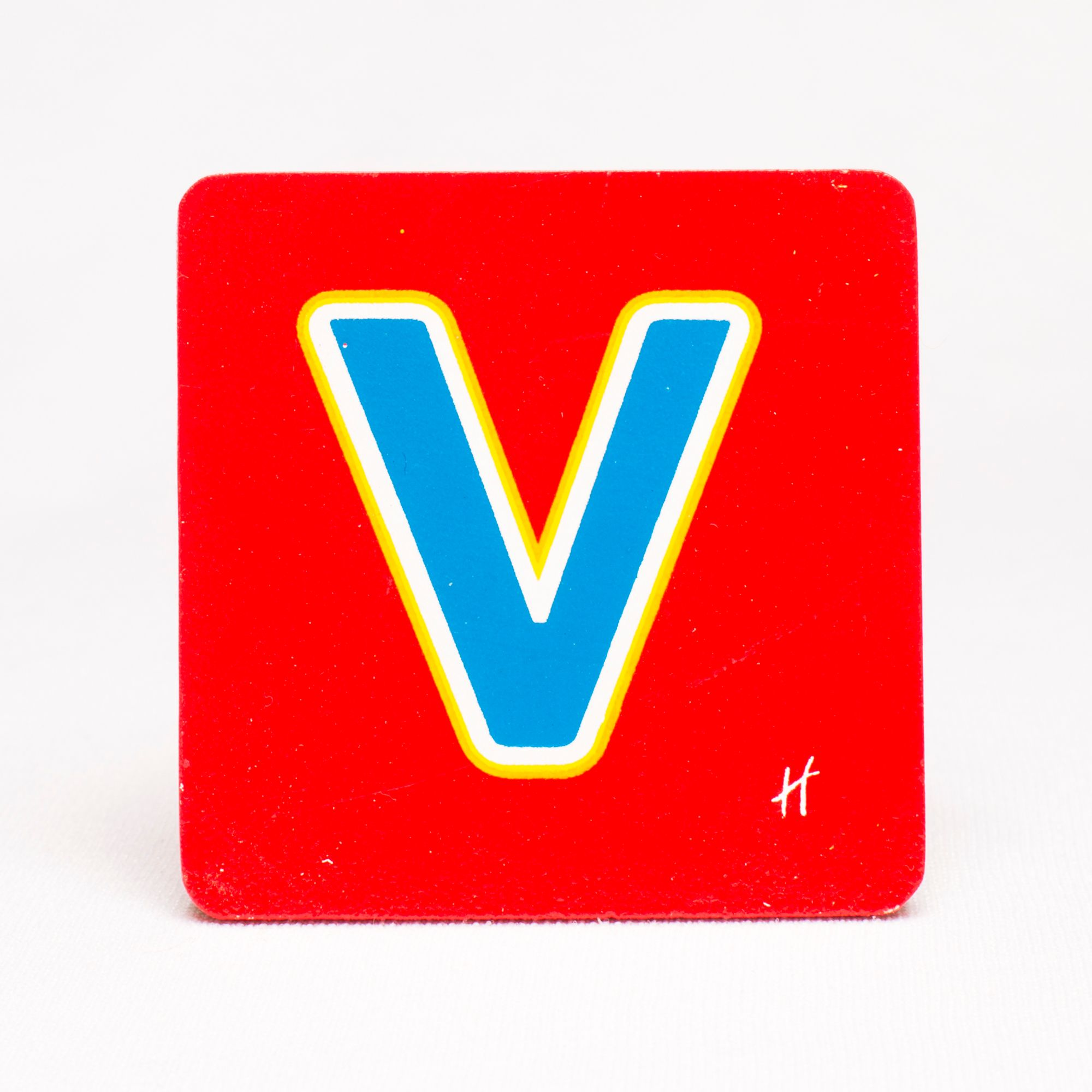 Hamleys Wooden Letter V