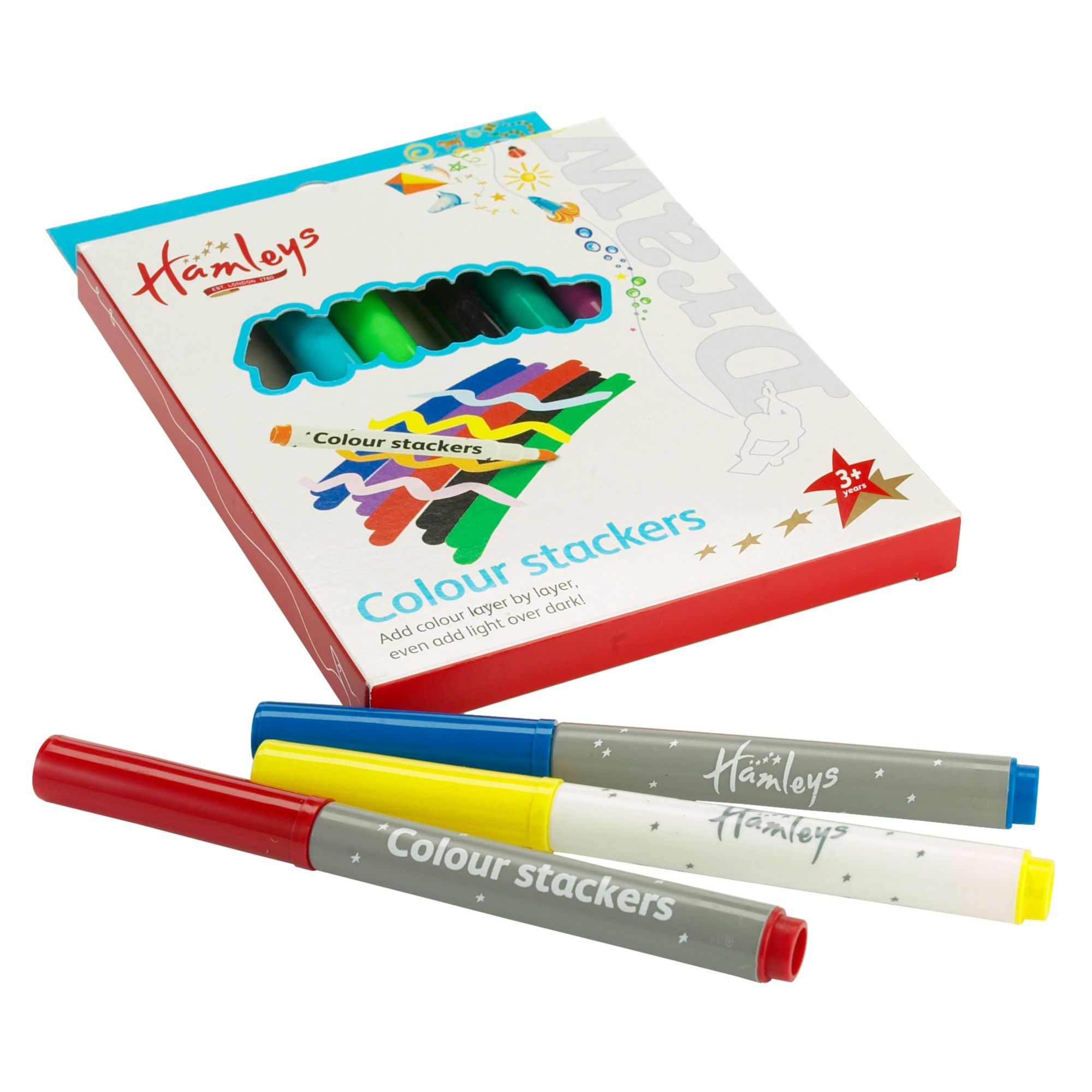 Colour stacker pens