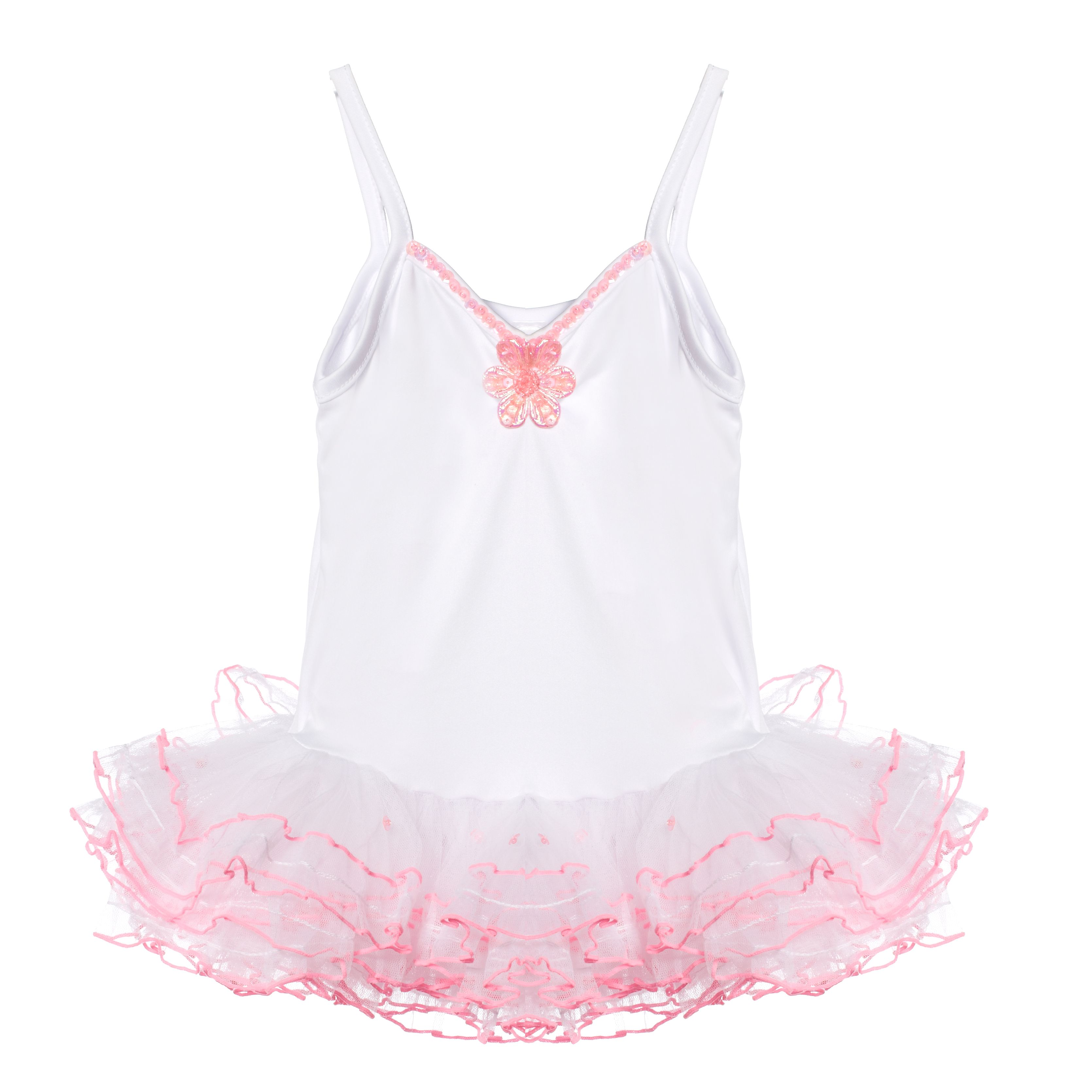 Pretty White and Pink Tutu (age 3 - 5 years)