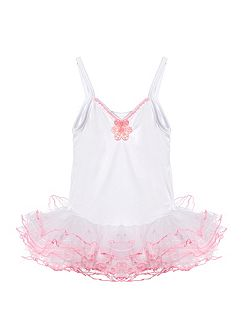 Pretty White and Pink Tutu (age 3 -