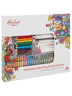 Colouring activity box