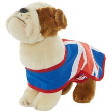Hamleys 30cm union jack bulldog soft toy