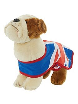 30cm union jack bulldog soft toy