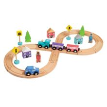 Wooden Figure Of 8 Train & Track set