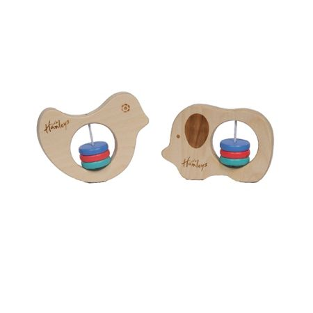 Hamleys Elephant & Bird rattle set