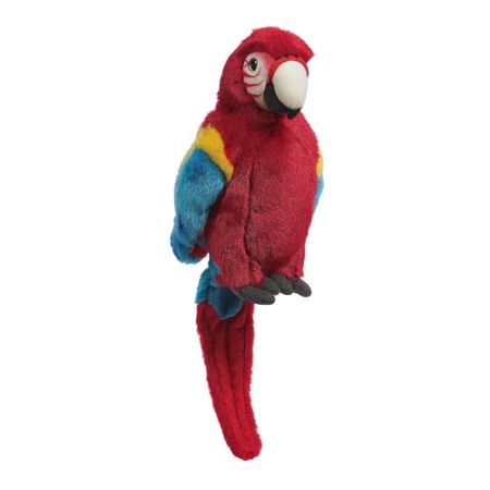 Hamleys Poppy Red Parrot Soft Toy